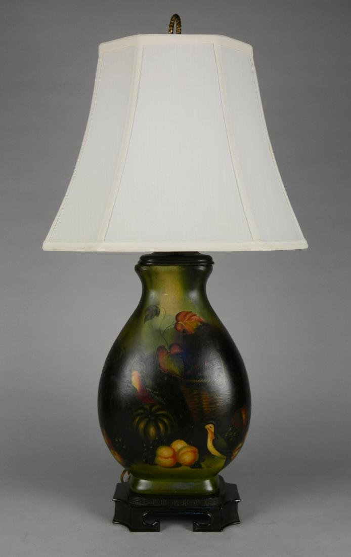 Hand-painted table lamp