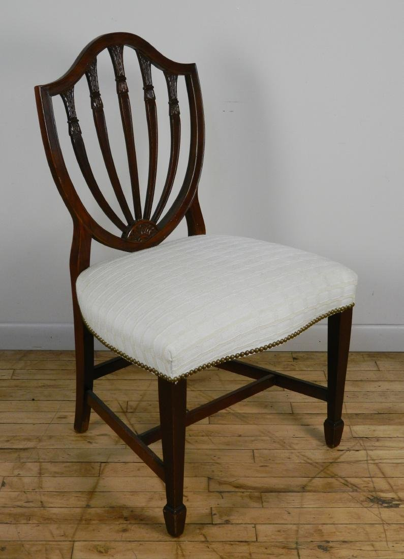 Set of 6 Hepplewhite style chairs