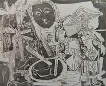 Pablo Picasso etching and aquatint