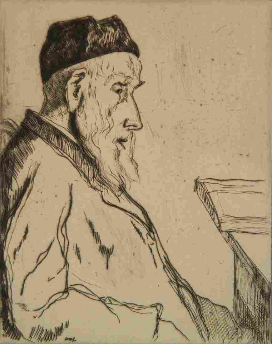 William Auerbach-Levy etching