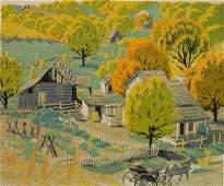 Gustave Baumann woodcut