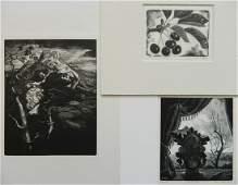 Grace Albee 3 wood engravings