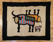 Mexican wool woven blanket