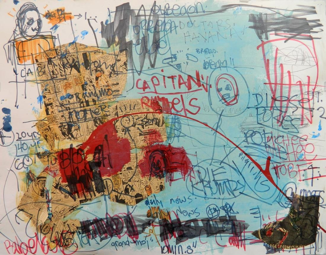 James Franco mixed media collage
