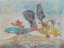 Roberto Matta etching and aquatint