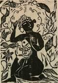 Shiko Munakata woodcut