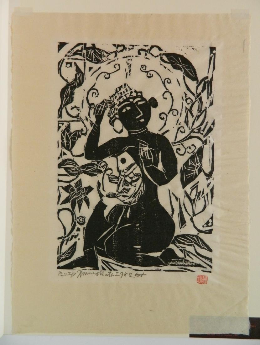 Shiko Munakata woodcut - 2