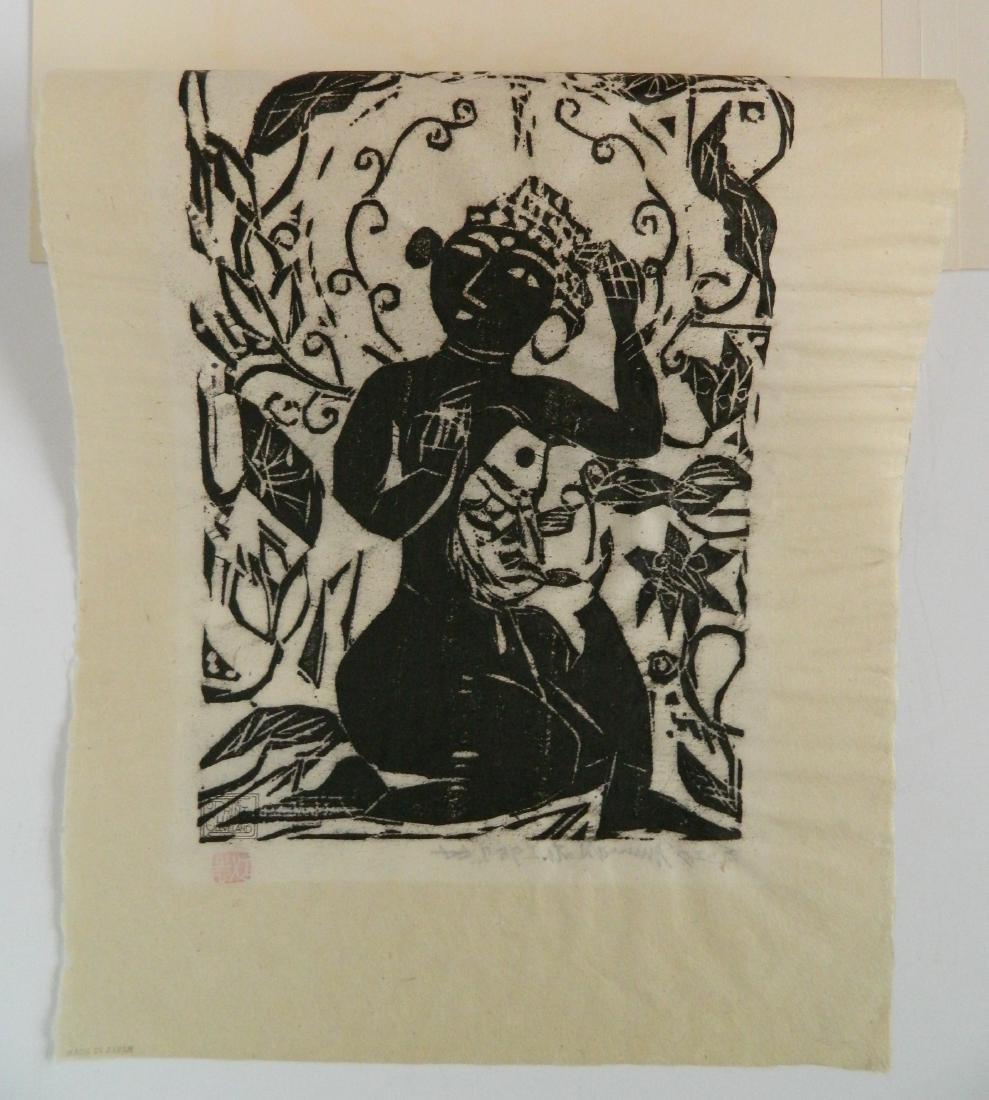 Shiko Munakata woodcut - 4