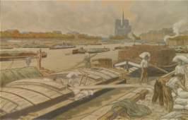 Henri Riviere lithograph