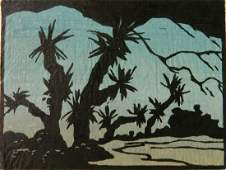 Jessie Jo Eckford woodcut