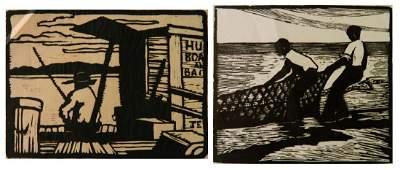 Jessie Jo Eckford 2 woodcuts
