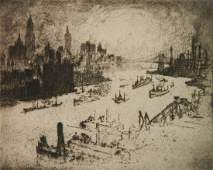 Joseph Pennell etching and drypoint