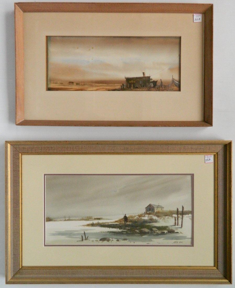 Fred Leach 2 watercolors