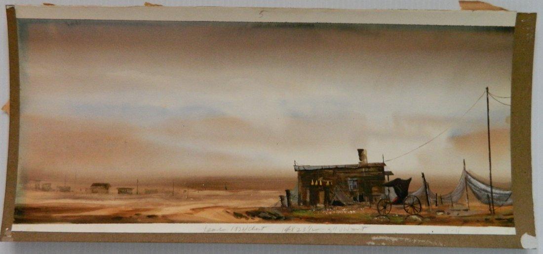 Fred Leach 2 watercolors - 3