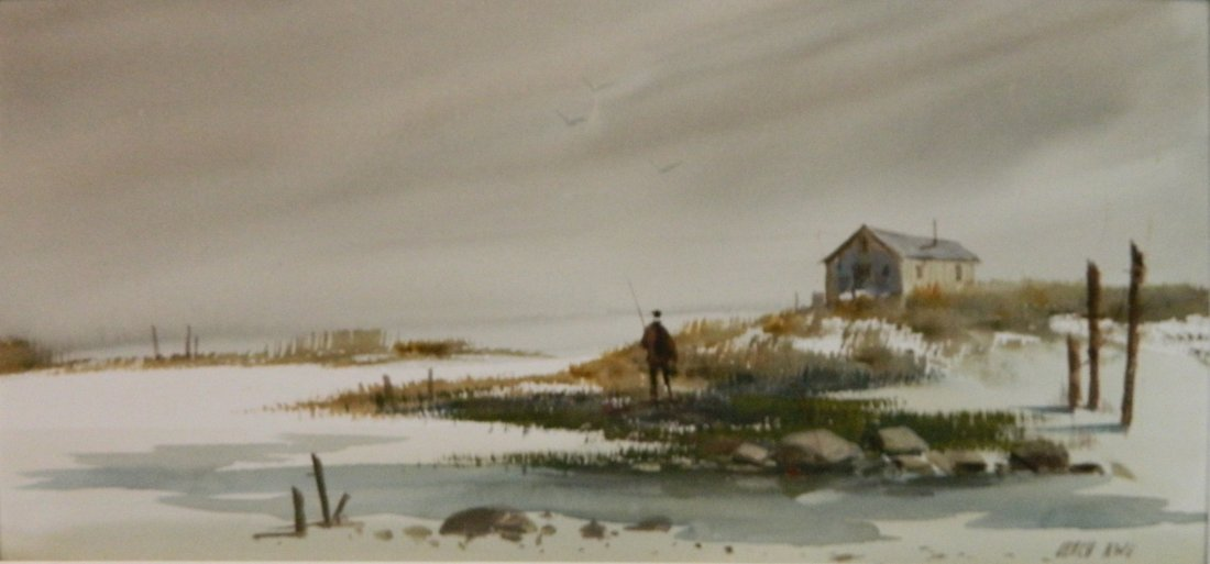 Fred Leach 2 watercolors - 6