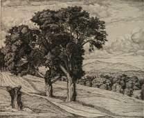 Luigi Lucioni etching