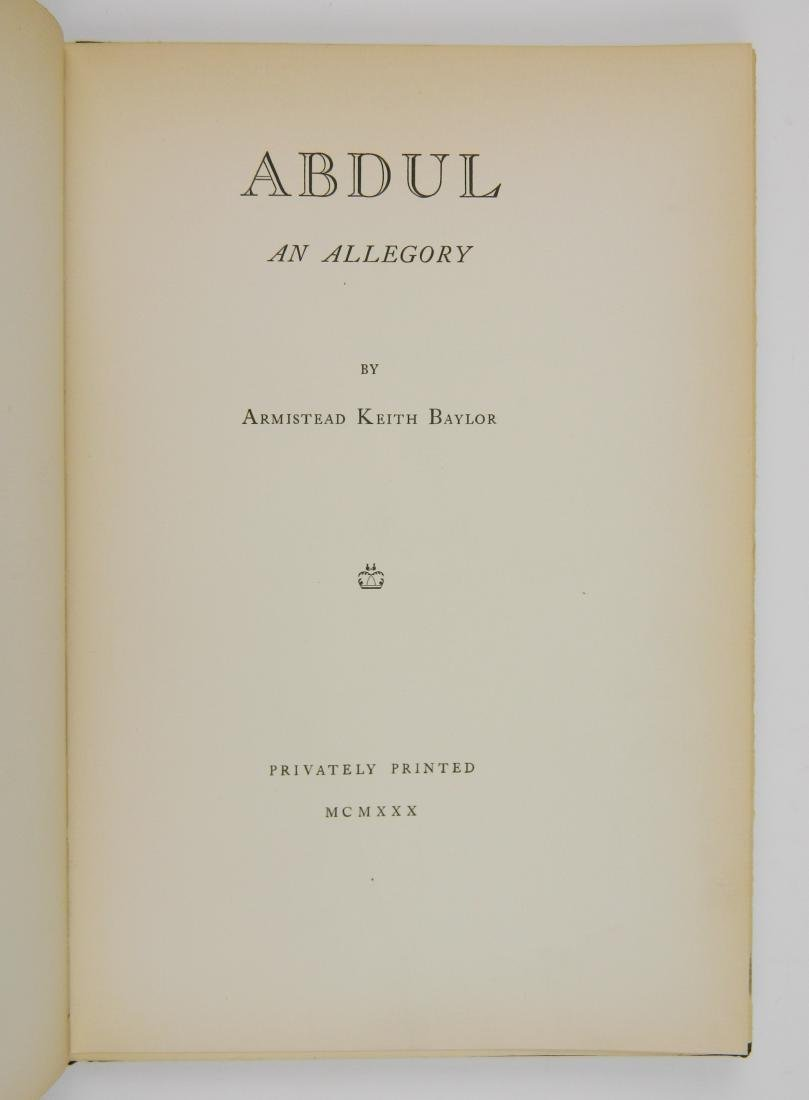 Baylor- Abdul, An Allegory - 3