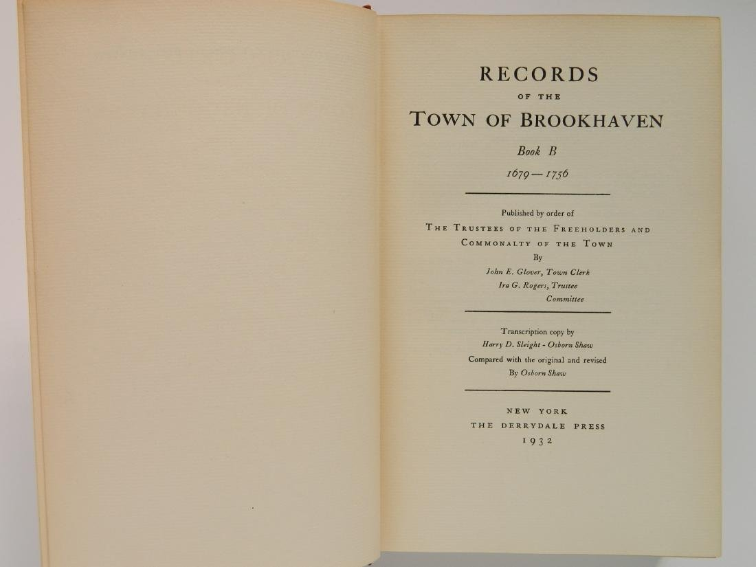 Records of The Town Brookhaven, Book A, B & C - 4