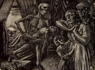 Albert Abramovitz wood engraving
