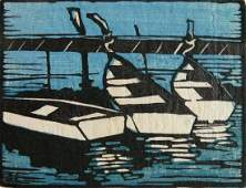 JessieJo Eckford woodcut in color