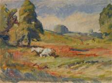 Henry G. Keller watercolor and gouache