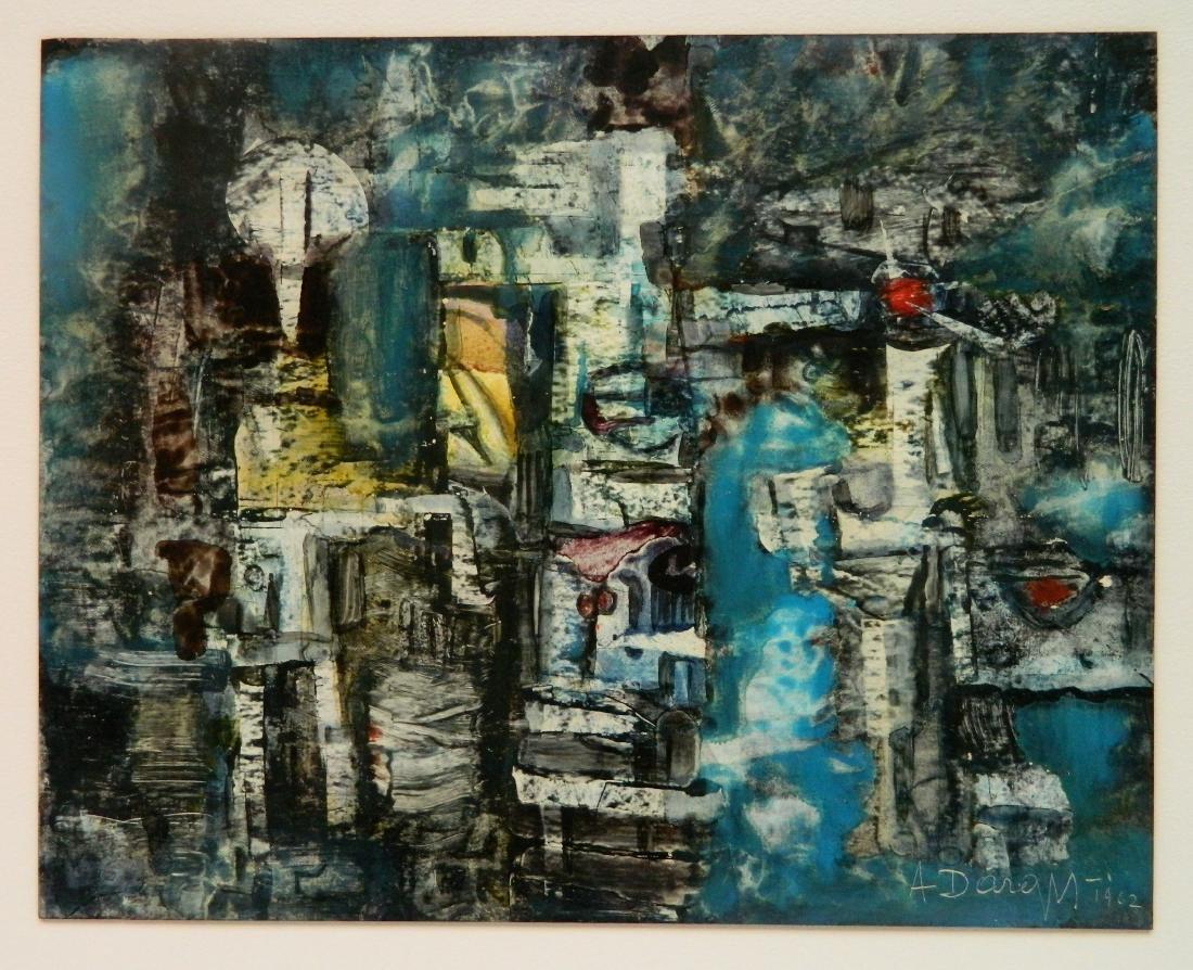 Alfons Dargis oil on board - 2