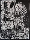 Alfons Dargis woodcut