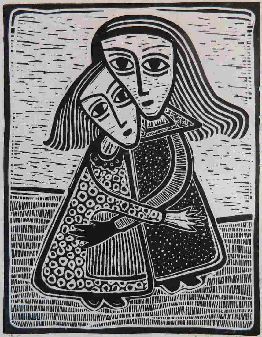 Alfrons Dargis woodcut