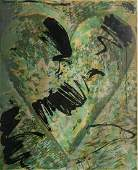 Jim Dine woodcut in color