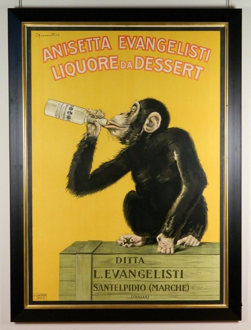 Carlo Biscaretti Di Ruffia lithographic poster - 2