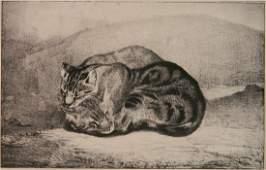 Antoine Louis Barye lithograph