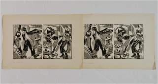 2 Helen West Heller woodcuts