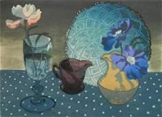 Anthony La Paglia woodcut in color