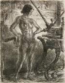 John Sloan etching