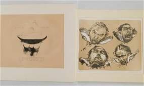 2 Contemporary lithographs Baskin and Grutzke