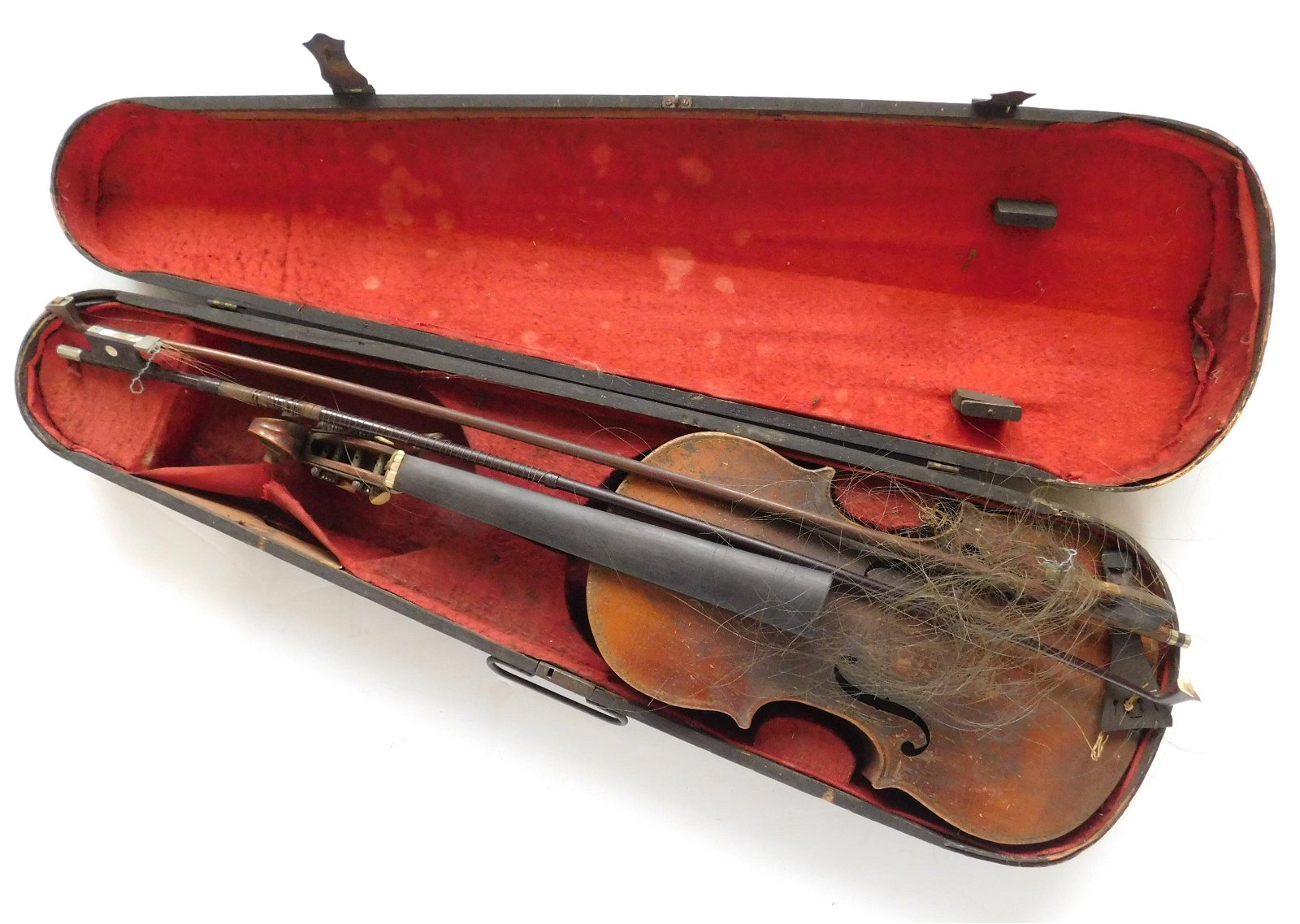 German Violin and two bows