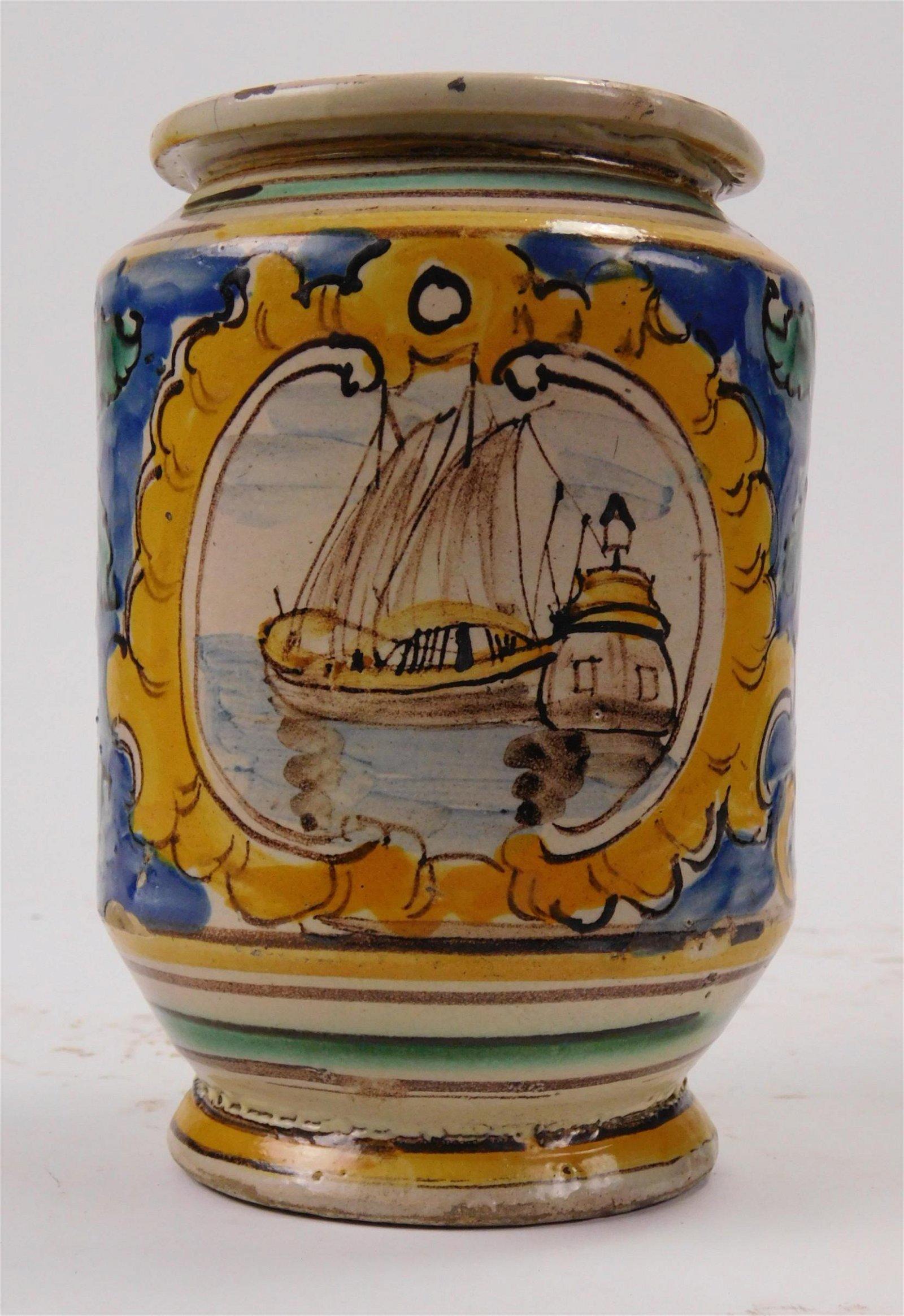 19th c. Italian Majolica jar