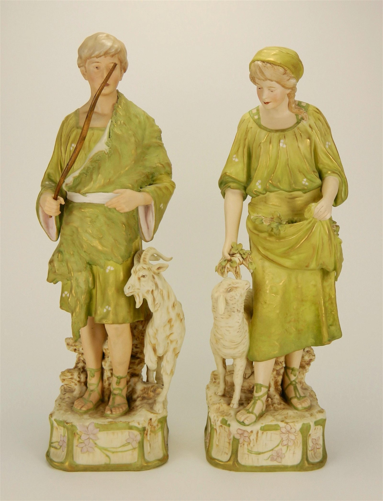 Pair of Royal Dux Porcelain figurines