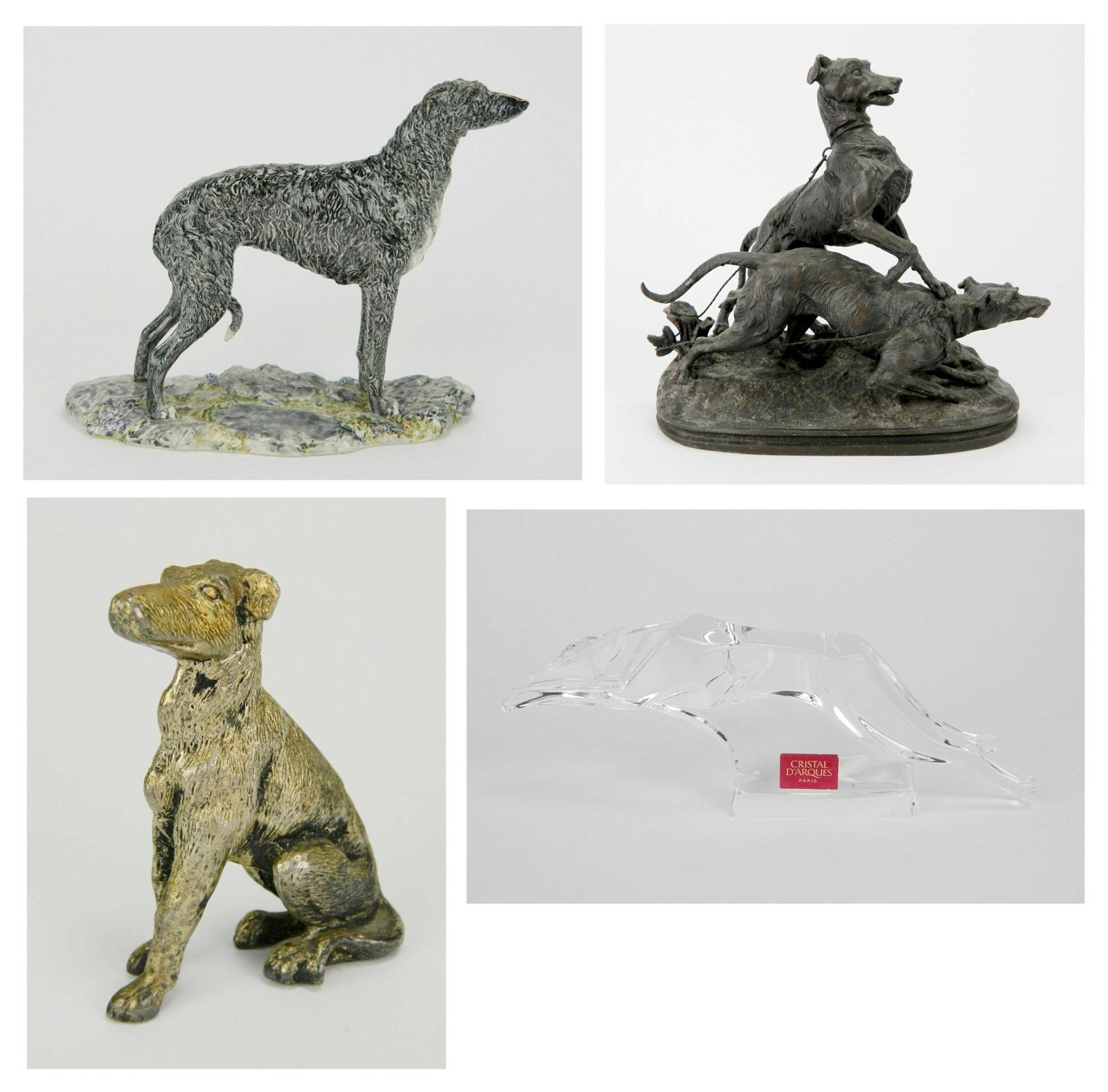 4 Figurines of Dogs