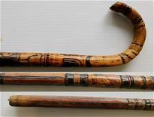 Folk Art cane- Buffalo NY