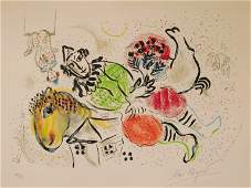 Marc Chagall lithograph in color