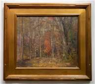 Carl R Theuerkauff oil Newcomb Macklin frame