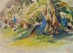 Henry G Keller watercolor