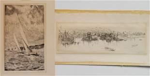 William McNulty 2 etchings