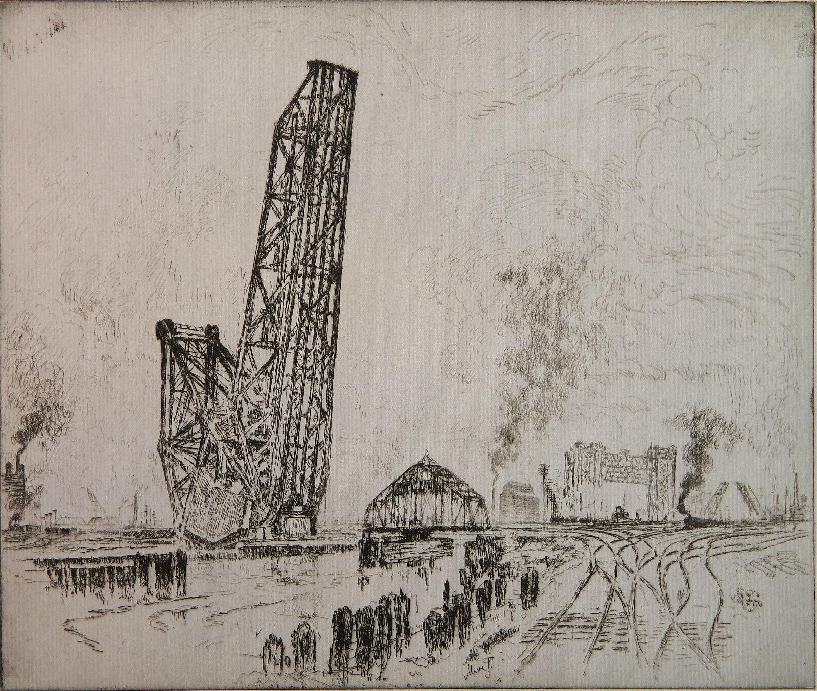 Joseph Pennell 2 etchings