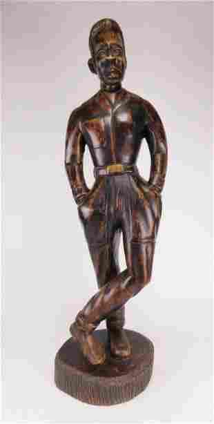 J Chery wood sculpture