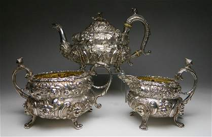 A George III  sterling silver tea service