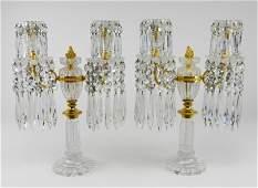 Pair of French gilt bronze candelabra