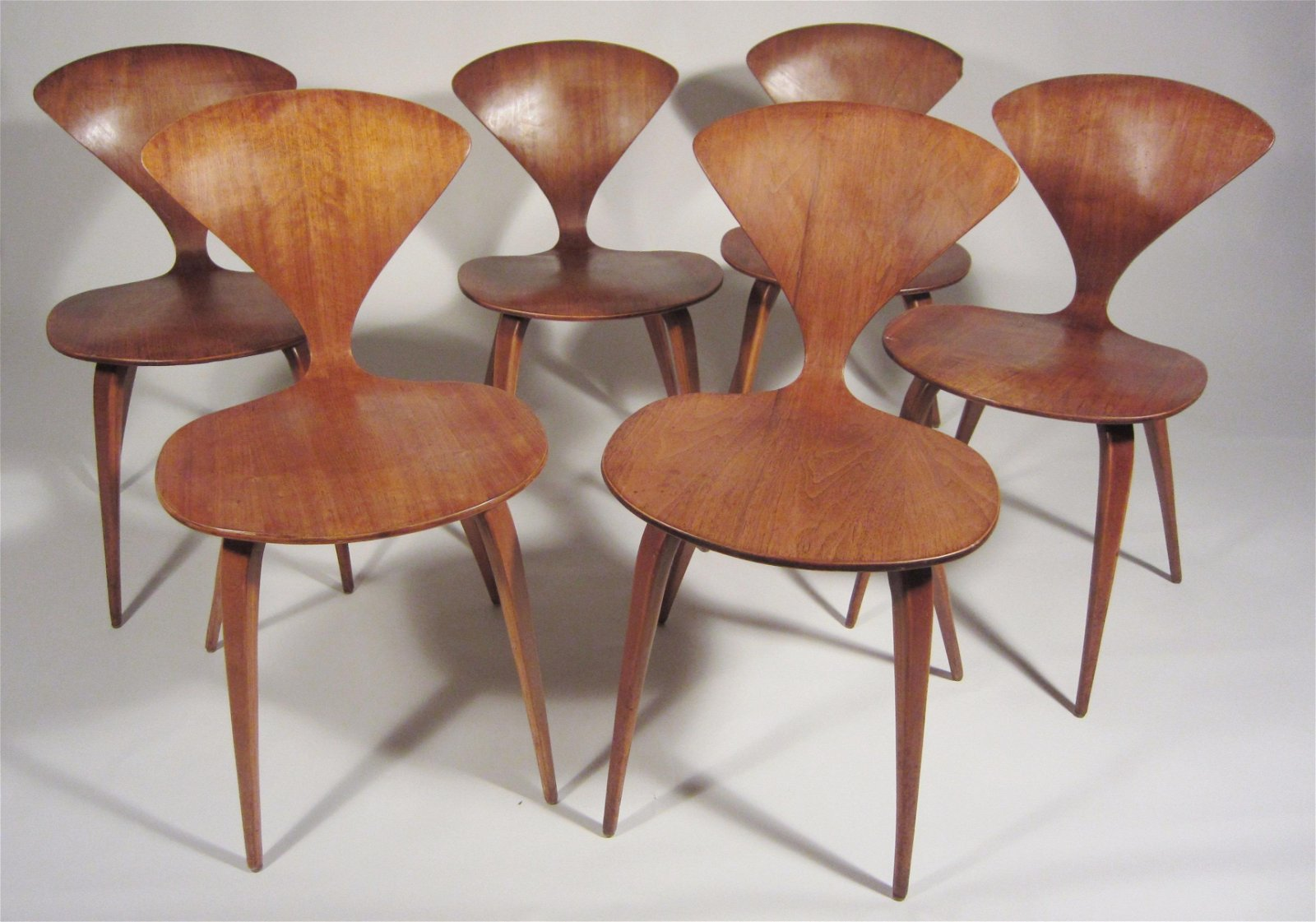 Set of 6 Norman Cherner chairs
