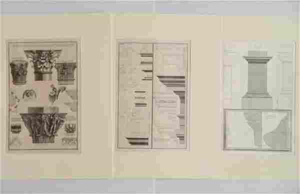 Giovanni Battista Piranesi 3 etchings